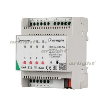 INTELLIGENT ARLIGHT Диммер KNX-104-DIM-DIN (12-24V, 4x4A)